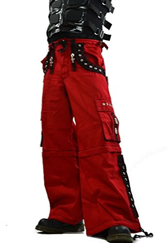 Cyber Goth Rave – Techno Cyber Goth Electro Red Baggy Jeans