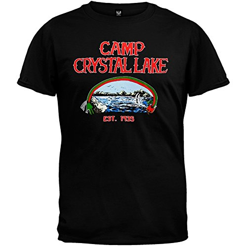 Friday the 13th mens camp counselor t shirt 2x large for Mens dress shirts black friday