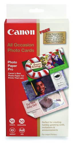 Canon All Occasion Photo Cards 4inx 8in