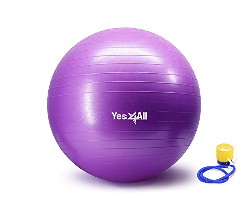 Anti Burst Stability Ball with Foot Pump - 55 cm - Purple - ²1U7UZ