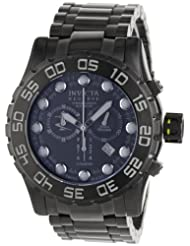 Invicta Men's 0819 Reserve Collection Leviathan Chronograph Black Dial Black Ion-Plated Stainless Steel Watch