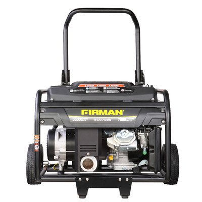 Firman Generators ECO7000 13 HP Gas Powered Portable Generator and Wheel Kit