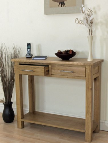 OSLO SOLID OAK CONSOLE TABLE