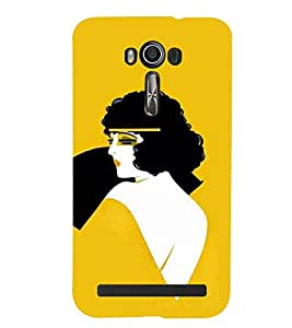 TOUCHNER (TN) Curly Hair Girl Back Case Cover for Asus Zenfone 2 Laser ZE500KL::Asus Zenfone 2 Laser ZE500KL (5 Inches)