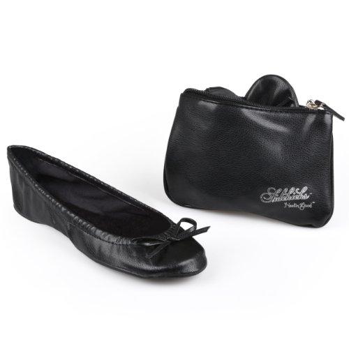 Sidekicks Women'S Foldable Ballet Flats W/ Carrying Case