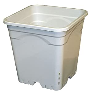 "Active Aqua 12""x12"" Square White Pot, 12"" Tall, 24 per case (Discontinued by Manufacturer)"