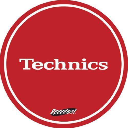 Technics-DMC-Speedmats-Tappetino-per-giradischi-1-paio-colore-rossobianco