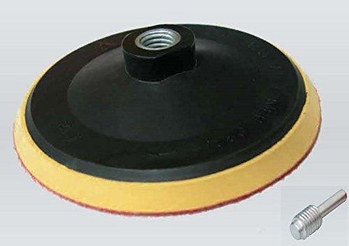 Sttzteller-125mm-Schleifteller-Klett-mit-Spanndorn-M14-Polierteller-Klettteller