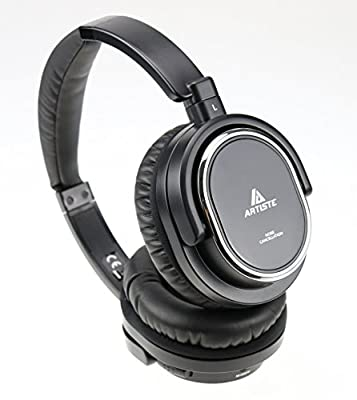 Beteran Artiste ARKON AWN100 Active Acoustic Noise Reduction Deep Bass Closed Dynamic ANC HiFi Professional Gaming Music Leather Stereo Computer Mobile Phone Headphone Headset with Micphone