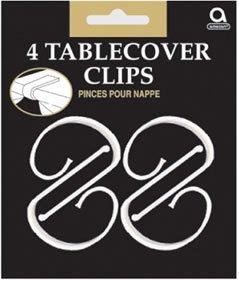 Nappe Clips en plastique 4/Pkg-Clear