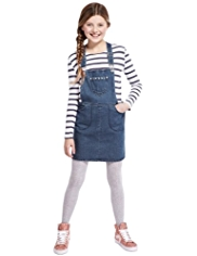 2 Piece Cotton Rich Denim Dungaree Outfit