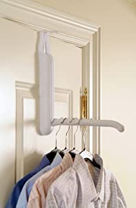 Save on Space 7045 Folding Over The Door Hanger Holder ,(Over All Door Widths)