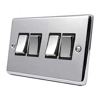 Black chrome light switch