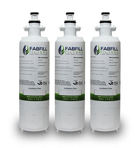 3-pack Pure Water Filter Replacement Cartridge for LG, Kenmore, Water Sentinel (Kenmore 469690 Filter compare prices)