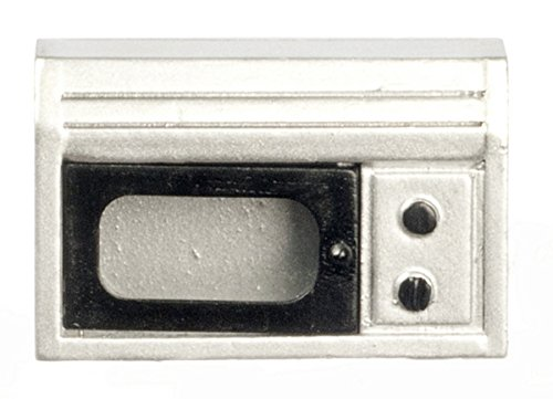 Dollhouse Miniature 1:12 Scale Silver Microwave #T5453