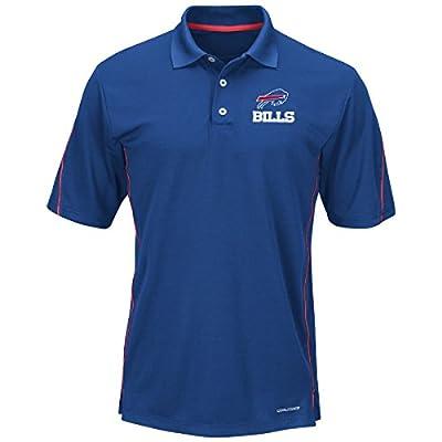 "Buffalo Bills Majestic ""Field Classic"" Men's Cool Base Polo Shirt - Blue"