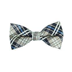 Pale Brown Checsk Bow Tie