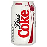 Diet Coke Cherry Fizzy Drinks 330ml Case of 24