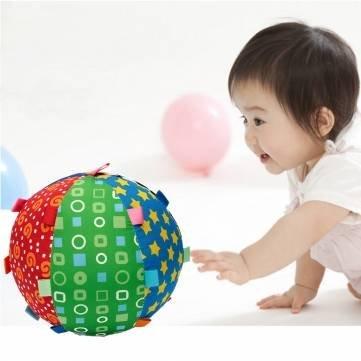 Children Baby Colorful Ball Bell Rattles Hand Grasp Cloth Soft Sense Development Toy