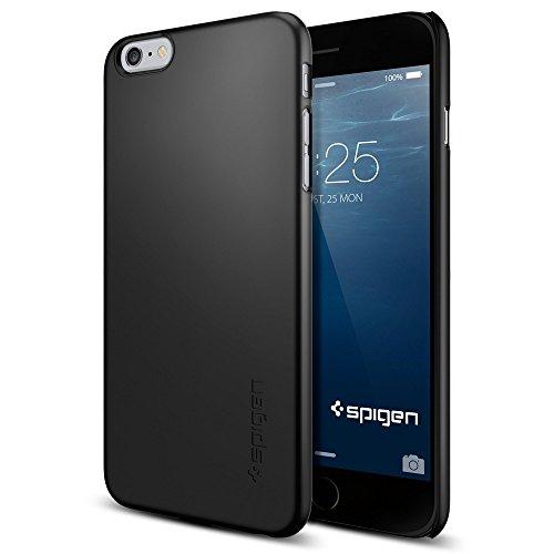 iPhone 6 Plus ケース, Spigen®  [滑り防止加工]  シン ・フィット Apple iPhone (5.5) アイフォン 6 プラス カバー (国内正規品) (スムース・ブラック SGP11102)