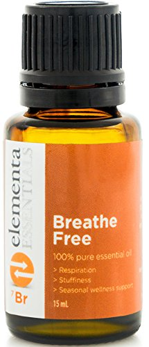 Breathe Free - Essential Oil for Respiratory & Sinus Relief - Supports Allergy Relief, Breathing & Congestion Relief. (Comparable to DoTerra Respiratory Blend Breathe & Young Living)