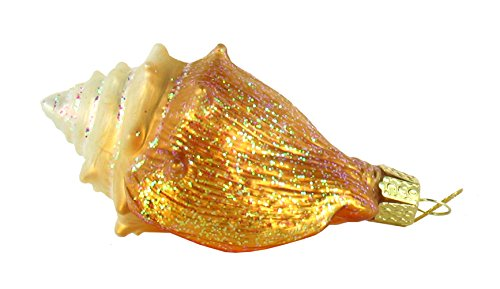 Old World Christmas Golden Seashell Glass Ornament