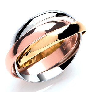 9ct Yellow Gold 3mm Russian Wedding Bands Ring
