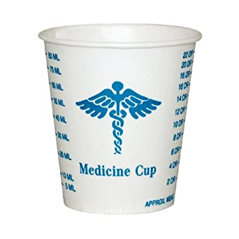 SOLO R3-43107 Medicine Design Wax Coated Paper Graduated Cup 3-oz. Capacity (50 Packs of 100)