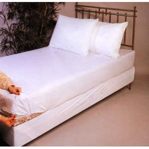 Vinyl Fitted Mattress Cover, Cot Size 30 X 75