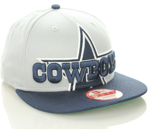 Dallas Cowboys NFL 9fifty New Era Snapback Cap Hat - Gray/Navy Blue (Medium/Large) at Amazon.com