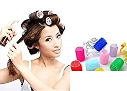 Hair Rollers Curlers 6 Diy Styling Velcro Soft Curler Foam Tool 6pcs Profesional Roller Bendy Self Sponge Style Magic hair clip