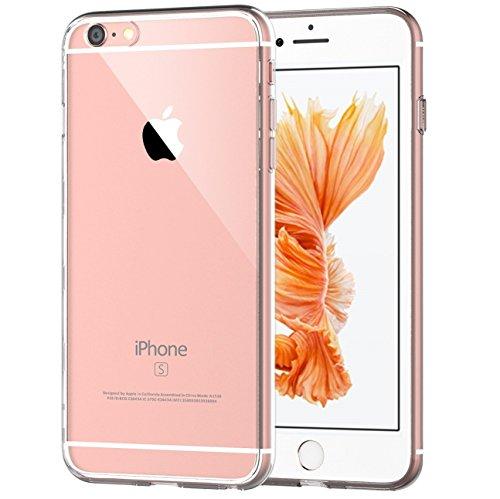Cover-iPhone-6-PLUS-6s-PLUS-NEWC-Custodia-Cover-Case-Caso-Trasparente-Crystal-Clear-Silicone-Gel-Ultra-Slim-Premium-semi-trasparente-Adesione-accurate-non-dolce-Dimensioni-per-Cover-iPhone-6-PLUS-6s-P