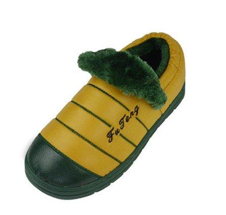 JE&KU JK-2693 Winter Mens Cotton Slippers/Cute Rabbit Plush Velvet Cartoon Antiskid Warm Shoes (Male/XL, Yellow)
