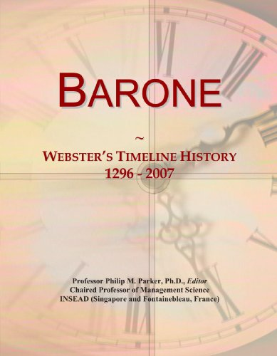 Barone: Webster's Timeline History, 1296 - 2007