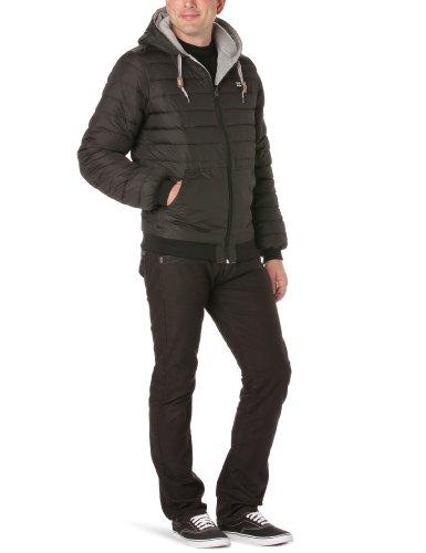 Alaska Billabong-Giubbotto con cappuccio, reversibile-Felpa da uomo nero nero XL
