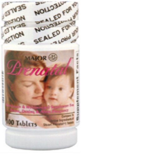 Prenatal Tablets, 27-0.8Mg, 100Ct