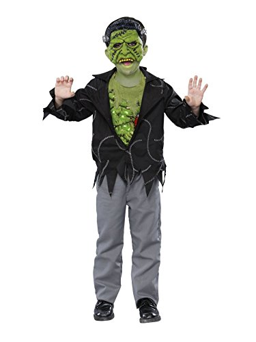 Boys Light Up Frankie Costume Frankenstein Outfit with Mask