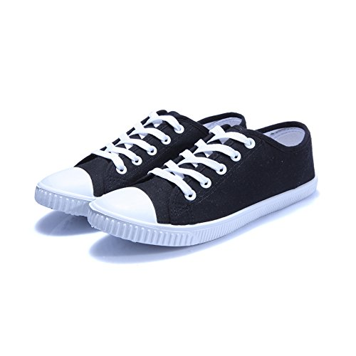 TopTie Canvas Athletic Sneaker, Cross Straps Low-top Shoes for DIY Painting