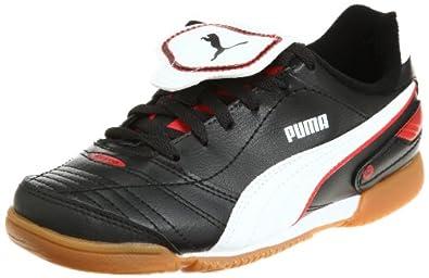 Puma Esito Finale IT Jr 102018, Unisex - Kinder, Sportschuhe - Fußball, Schwarz (black-white-puma red 03), EU 35 (UK 2.5) (US 3.5)