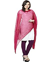 Castle Light Magenta Chiffon Dupatta