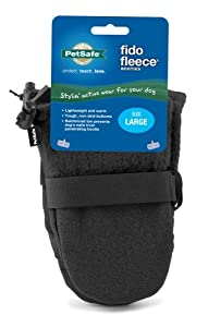 Premier Pet Fido Fleece Booties Solid Black Size Small