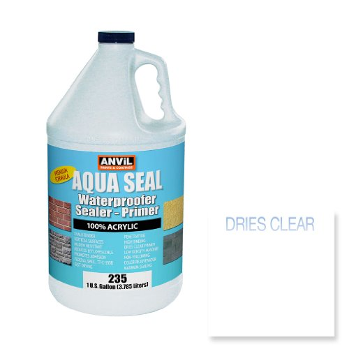 Anvil Aqua Seal Waterproofer Bonding Primer Acrylic Clear Penetrating Sealer (1 Gallon) (Waterproof Grout Sealer compare prices)