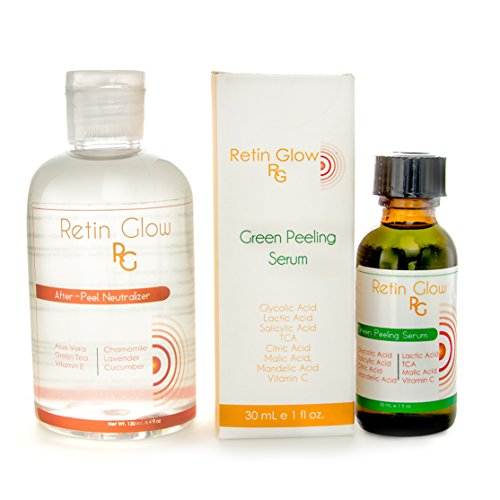 Green Peel + 4 oz Neutralizer. Chemical Peel Made with TCA, Glycolic, Lactic, Salicylic, Citric Acid & Vitamin C