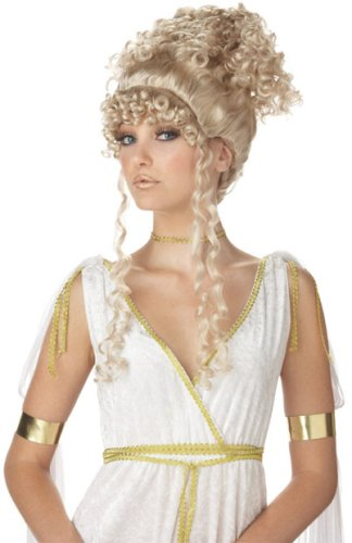 Athenian Goddess Blonde Wig Costume Accessory