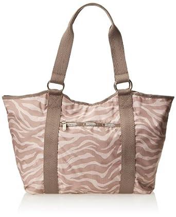 LeSportsac Carryall Tote Handbag,Zebra Tan,One Size
