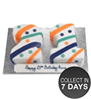 Stripes & Spots Cake (Double Number)