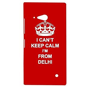 Skin4gadgets I CAN'T KEEP CALM I'm FROM DELHI - Colour - Red Phone Designer CASE for NOKIA LUMIA 730