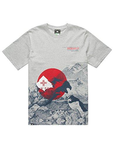LRG Mens Elevation Incline Short-Sleeve Shirt Medium Ash Heather