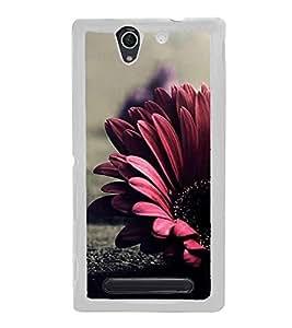 Flower 2D Hard Polycarbonate Designer Back Case Cover for Sony Xperia C4 Dual :: Sony Xperia C4 Dual E5333 E5343 E5363