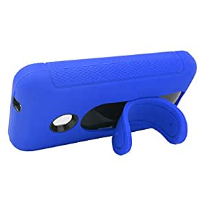 Eagle Cell Nokia Lumia 530 Hybrid Skin Case with Colored Stand - Retail Packaging - Blue/Black
